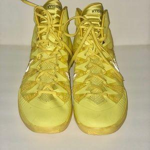 Bright yellow nike hyper dunk